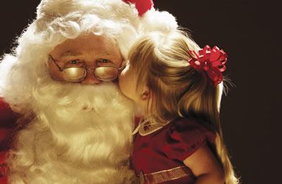 Santa kiss