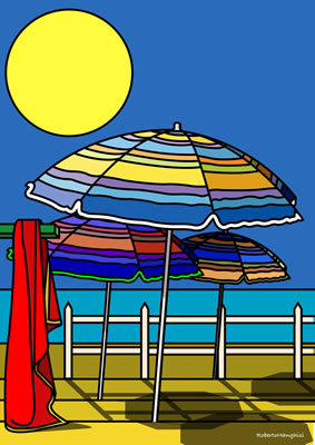 graphic beach umbrellas Weekly E Letter